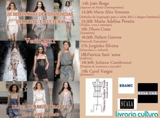 livraria cultura seminario de moda