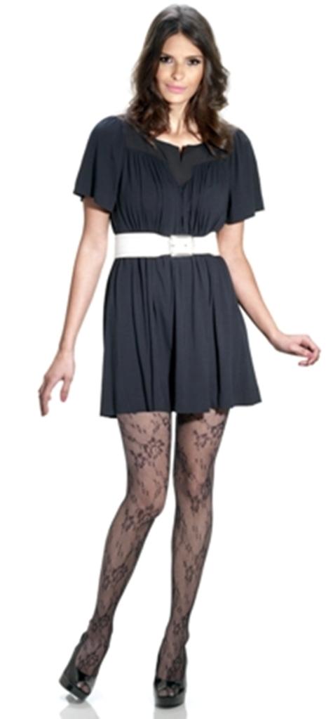 meia calça rendada preta
