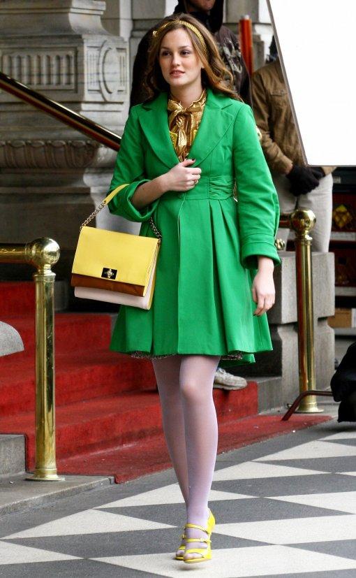 verde e amarelo Blair Waldorf